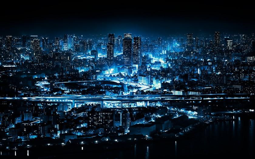 Неоновый город Осака