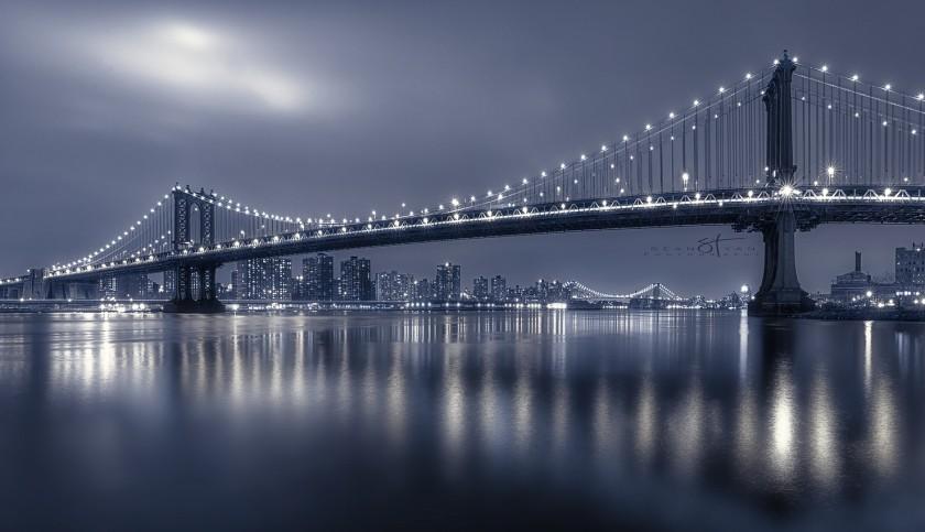 Огни ночного Манхэттена