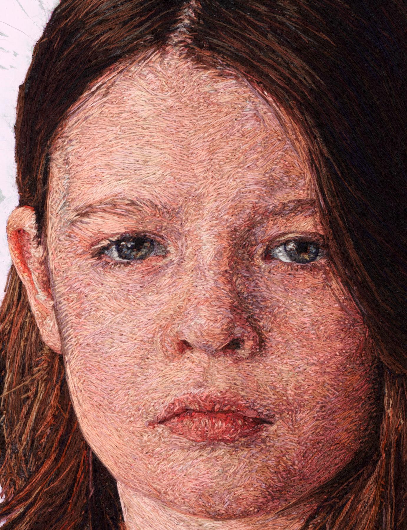 Вышитые портреты художницы Кейси Завалья