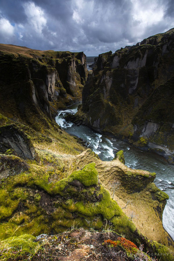 Фьядрарглйуфур - каньон в Исландии