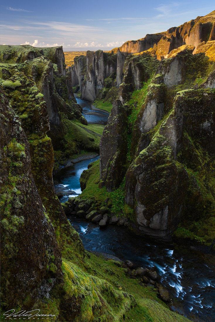 Фьядрарглйуфур - красивый каньон