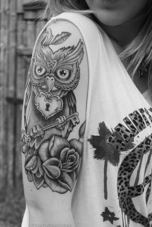 Замок и ключ в татуировках - 50 идей