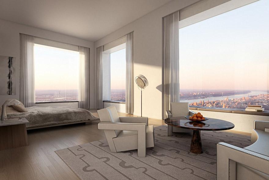 Каково это - жить в пентхаусе стоимость 95 млн долларов с видом на весь Нью-Йорк-13