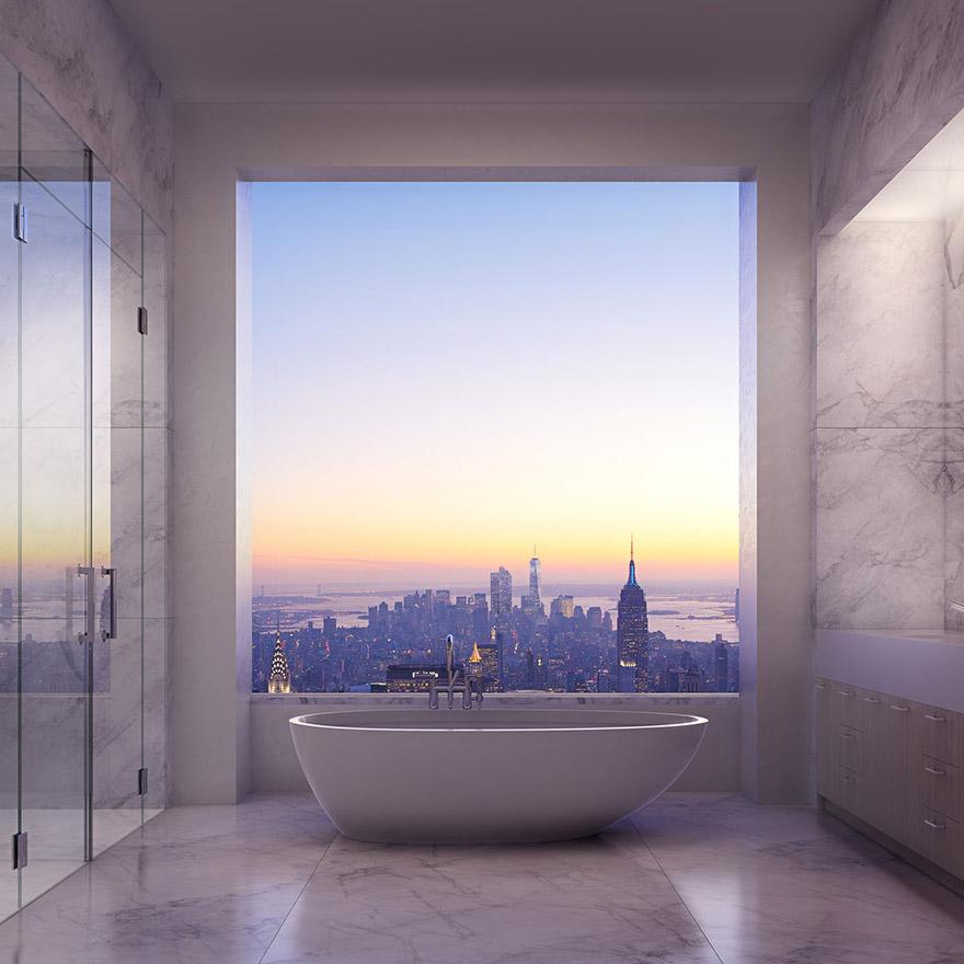 Каково это - жить в пентхаусе стоимость 95 млн долларов с видом на весь Нью-Йорк-12