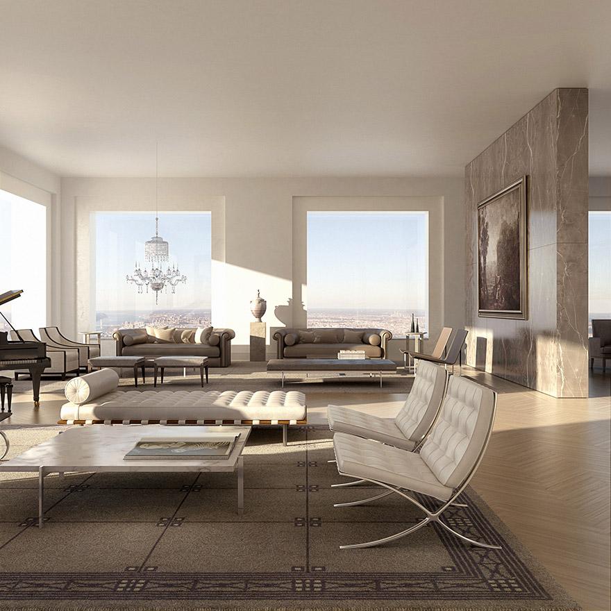 Каково это - жить в пентхаусе стоимость 95 млн долларов с видом на весь Нью-Йорк-9