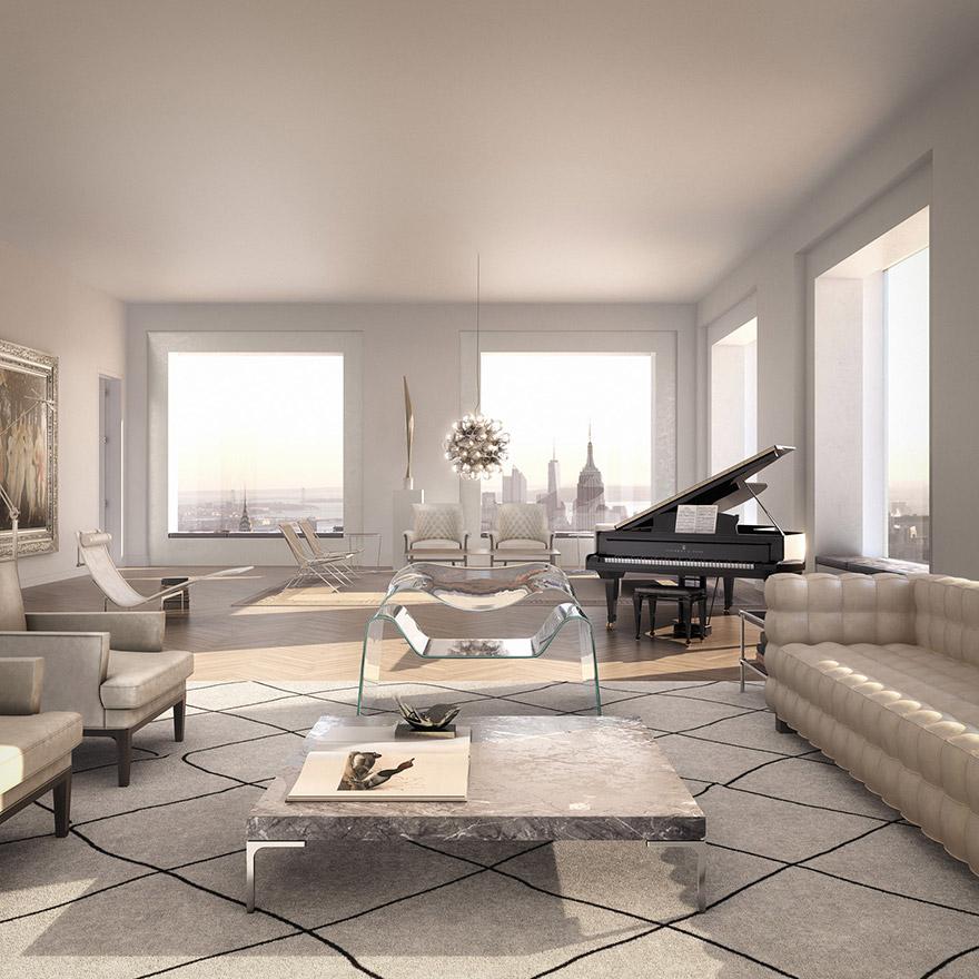 Каково это - жить в пентхаусе стоимость 95 млн долларов с видом на весь Нью-Йорк-11
