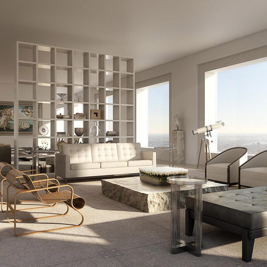 Каково это - жить в пентхаусе стоимость 95 млн долларов с видом на весь Нью-Йорк-6
