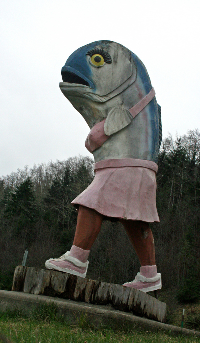 «Наполовину девушка, наполовину рыба с сиськами» в Вашингтоне.