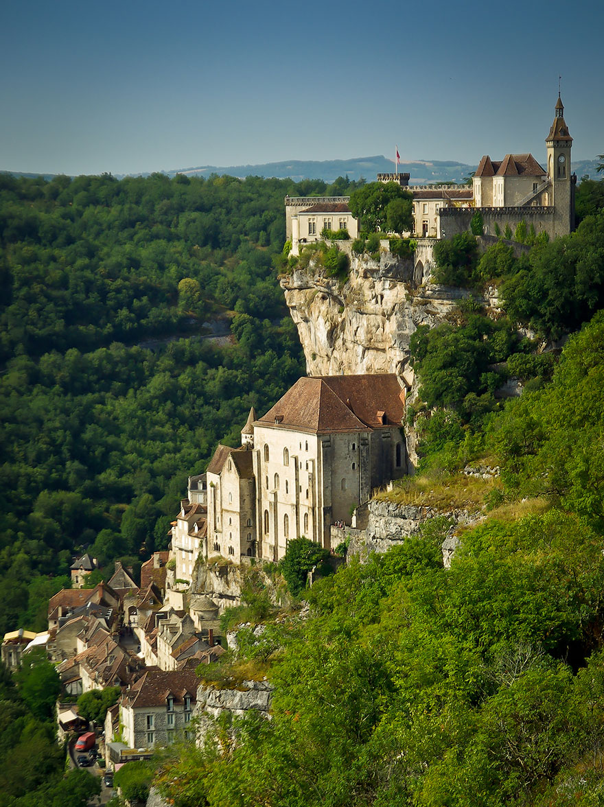 Деревня Рокамадур, Франция