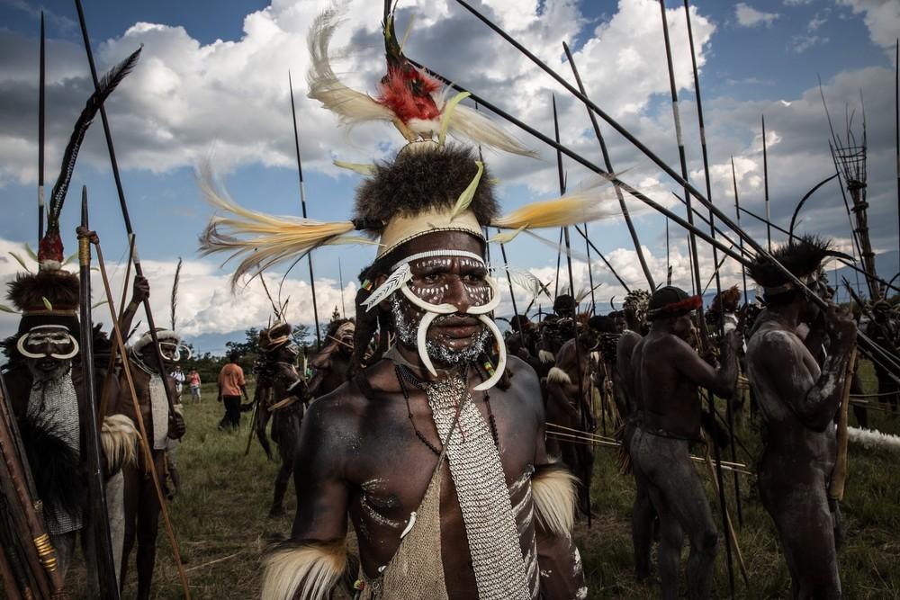 Племена папуасов - фоторепортаж из долины Балием - 15