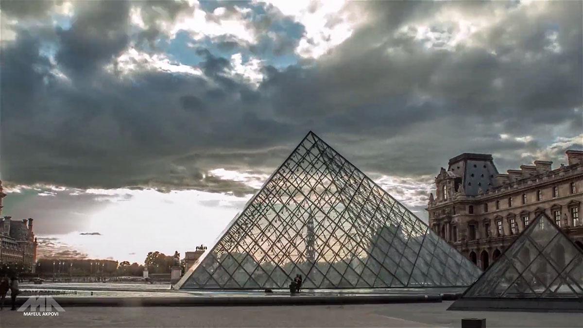 Красивая экскурсия по Парижу за две минуты в видео stop motion