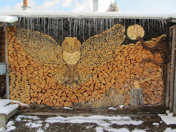 Укладка дров - это искусство!-1