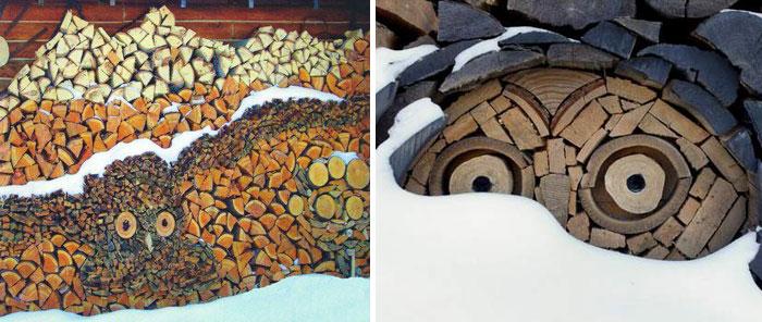 Укладка дров - это искусство!-5
