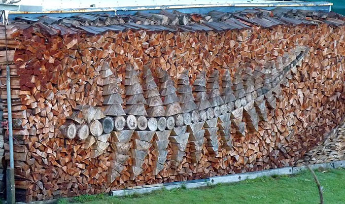 Укладка дров - это искусство!-3
