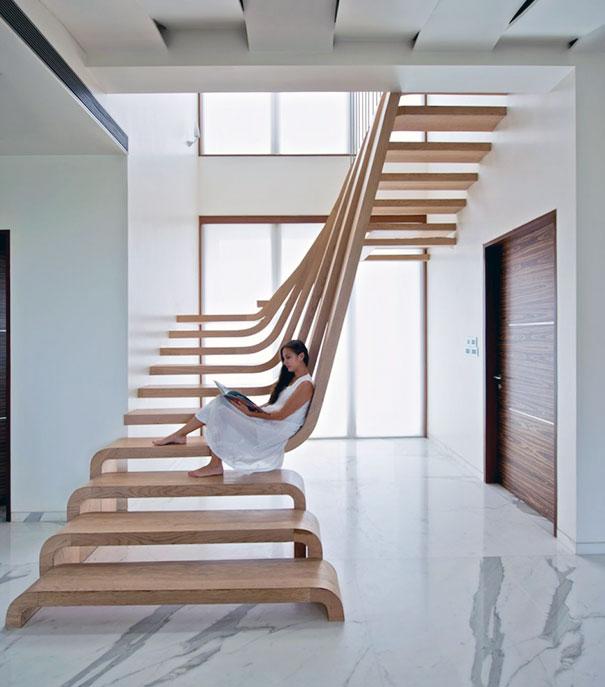 Креативный дизайн для лестницы - 22 идеи - 13