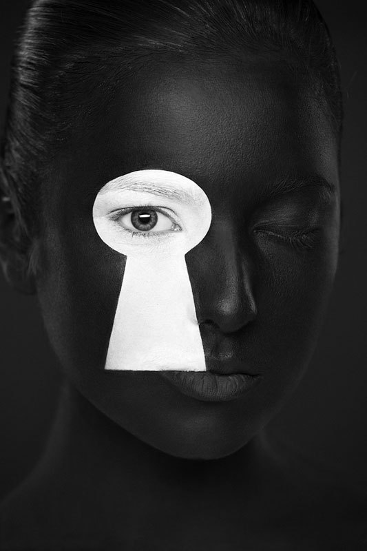 Чёрно-белые портреты из проекта «Странная красота»