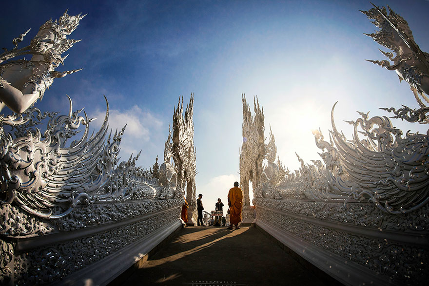Белый храм в Таиланде-10