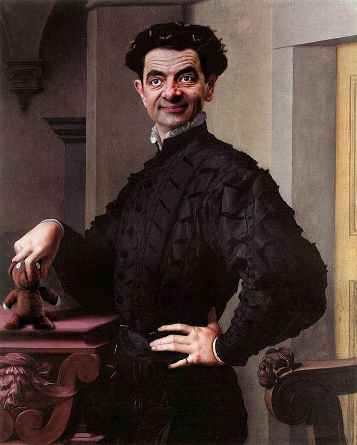 Мистер Бин стал лицом знаменитых портретов-24