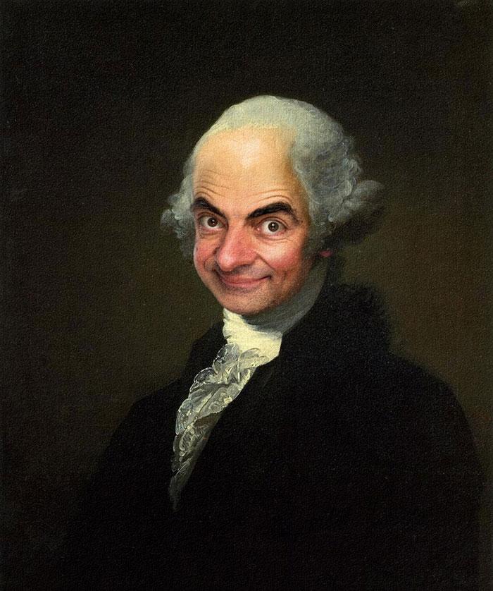 Мистер Бин стал лицом знаменитых портретов-20