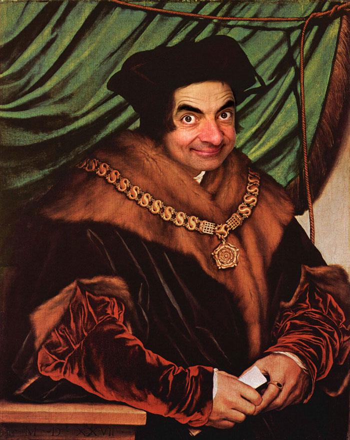 Мистер Бин стал лицом знаменитых портретов-26