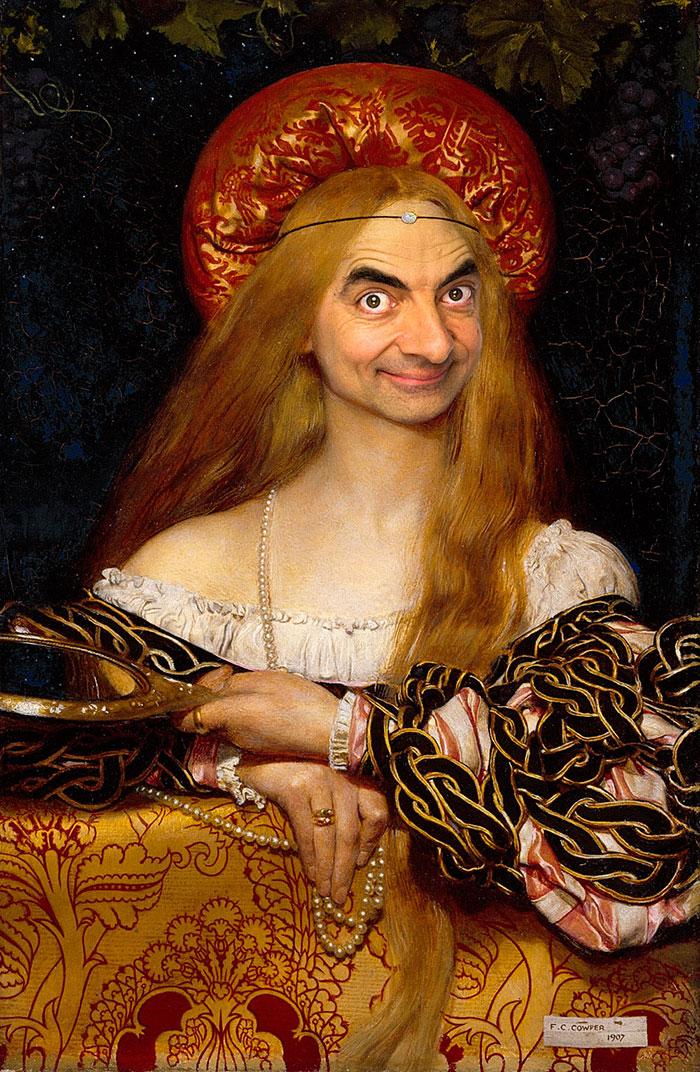 Мистер Бин стал лицом знаменитых портретов-21