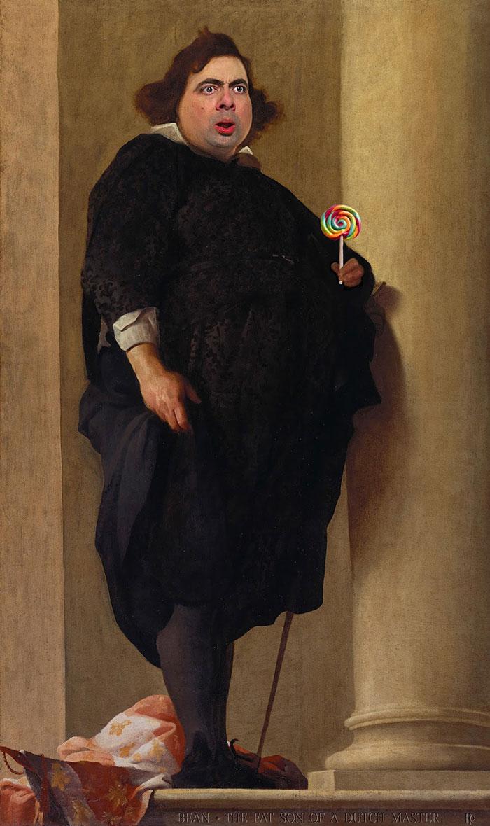 Мистер Бин стал лицом знаменитых портретов-30
