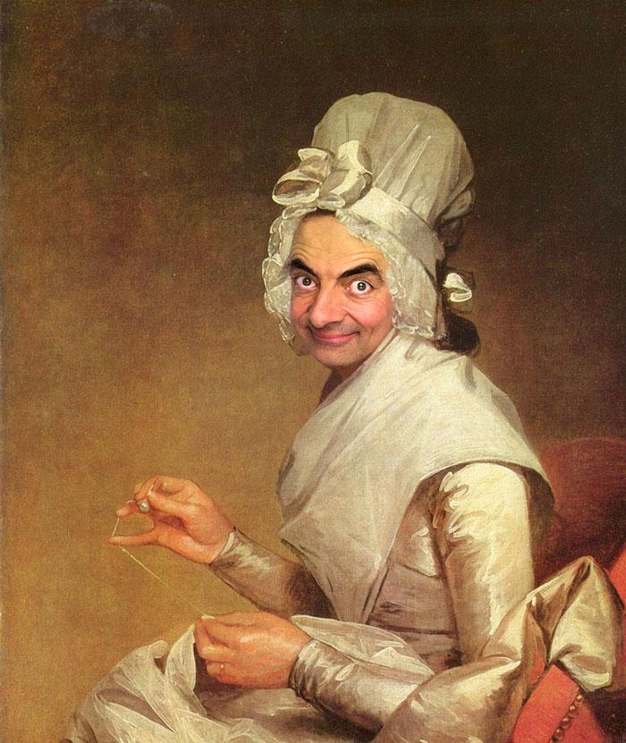 Мистер Бин стал лицом знаменитых портретов-25