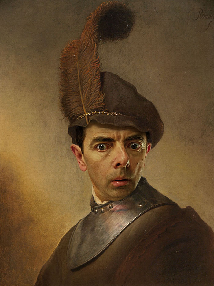 Мистер Бин стал лицом знаменитых портретов-27