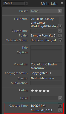 Lightroom-Metadata