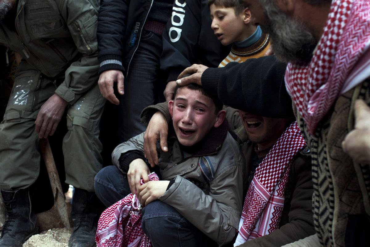 Фото дети плачут на войне