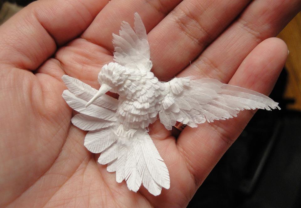 Белые птички своими руками