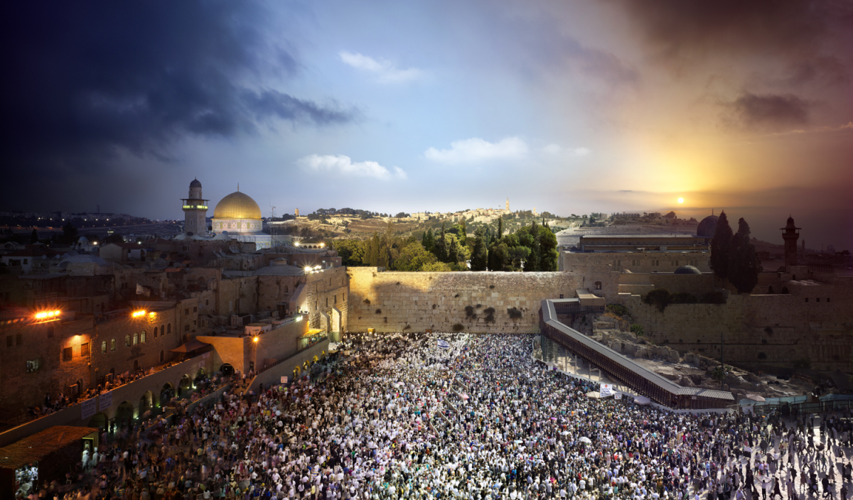 11day to night wailing wall 6