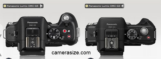 Panasonic G5 vs G3 Grip comparison side by side