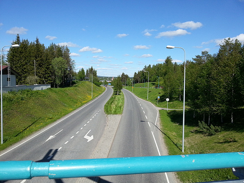 Road 20 to Oulu.