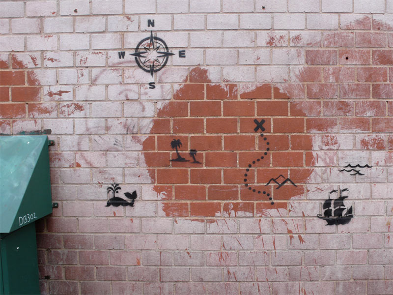 A map – Street Art by Banksy