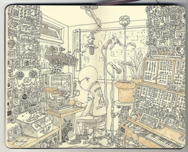 Incredible New Sketchbook Illustrations from Mattias Adolfsson