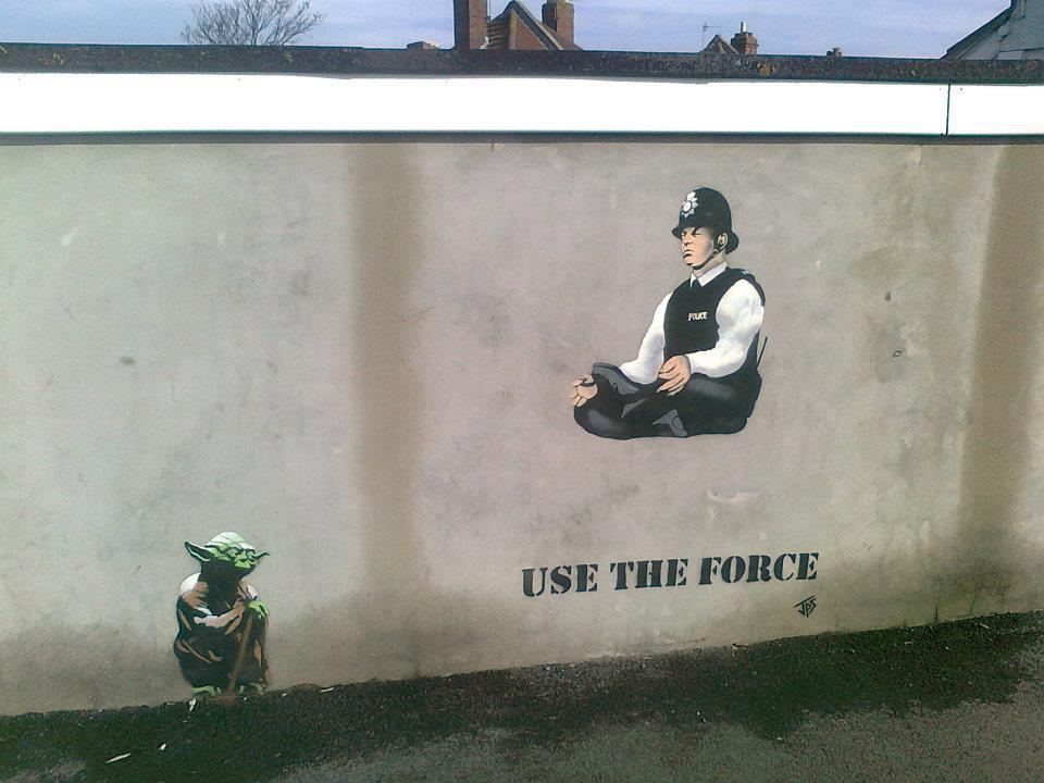 Use The Force – Street art by JPS