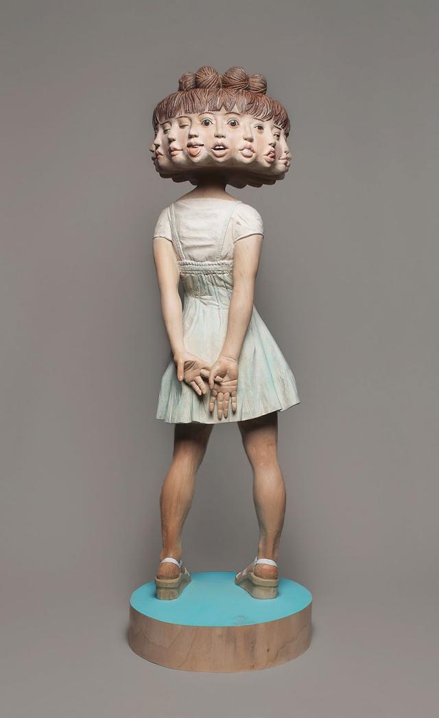 Сюрреалистические деревянные скульптуры Йошитоши Канемаки