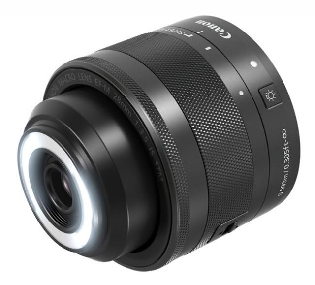 Canon EF-M 28мм STM – первый макрообъектив со встроенным кольцом светодиодной подсветки