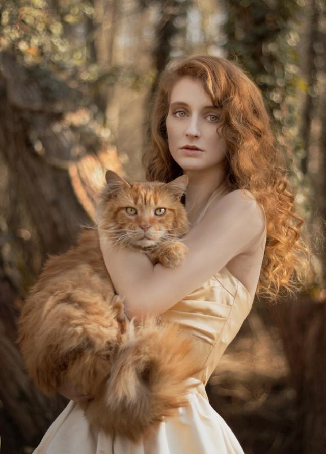 Леди с кошками – портреты, полные шикарности и очарования