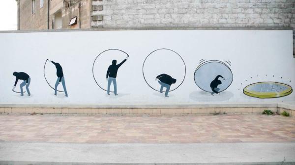 Как отразился кризис еврозоны в уличном искусстве в Гротталье, Италия
