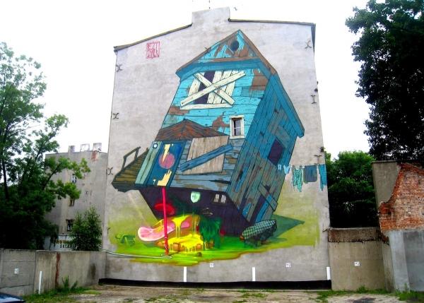 Стрит-арт в городе Лодзи, Польша