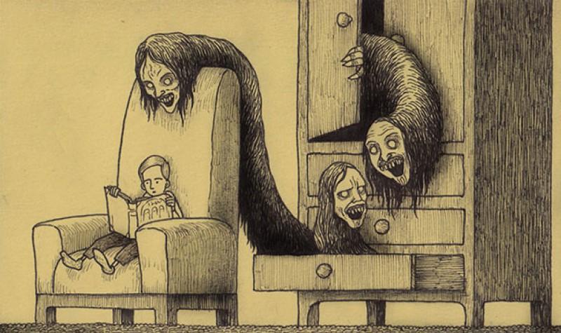 Как рисовать страшил