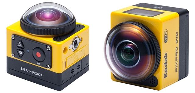 Экшн-камера Kodak PixPro SP360 для съёмки с круговым обзором в 360°