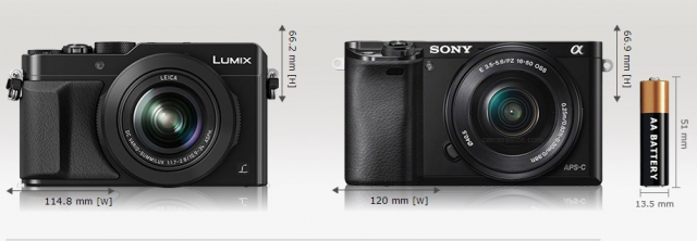 Сравнение Panasonic LX100, Sony NEX-6, Sony A6000 и Panasonic GM5