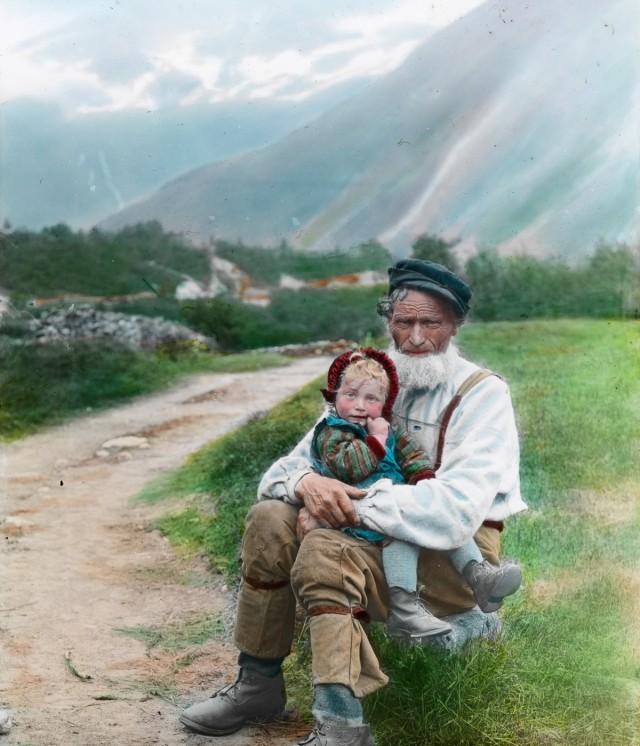 Психоделические цветные фотографии красот Норвегии (1900 год)