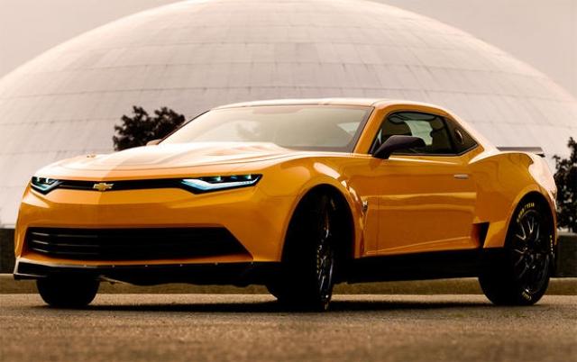 Chevrolet Camaro Bumblebee машина из фильма Трансформеры 4