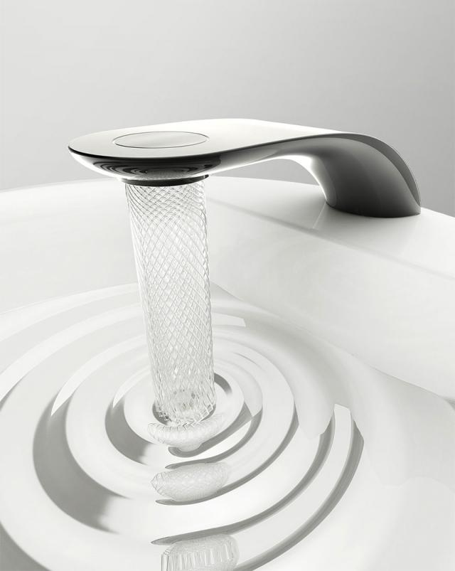 Водопроводный кран от студента-дизайнера экономит воду и превращает её в красивые узоры