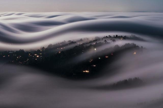 Туман поплыл
