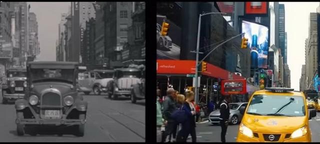Видео: улицами Нью-Йорка 1930-х годов и сейчас